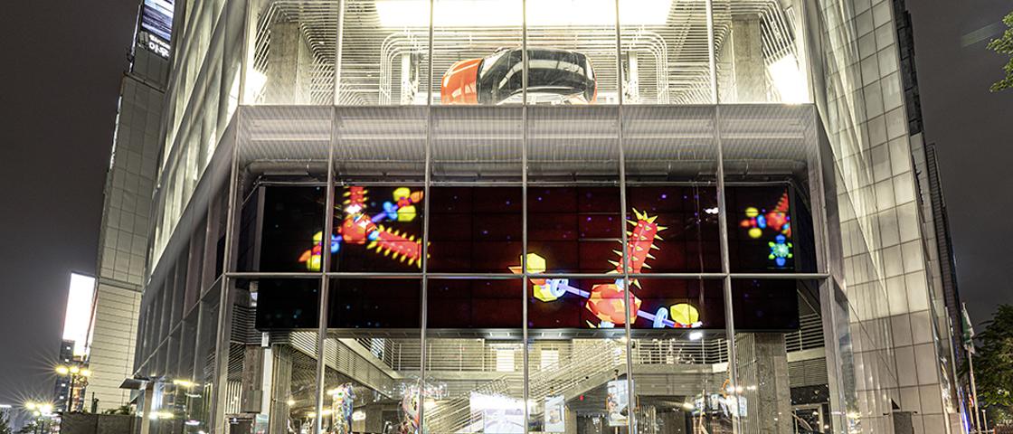 현대모터스튜디오 서울 '월드 온 어 와이어' 전시 외부 전경